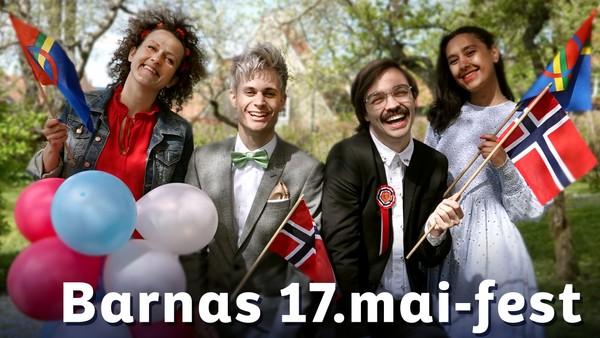 Programlederne i NRK Super gir barna tidenes hyggeligste 17. mai-fest.