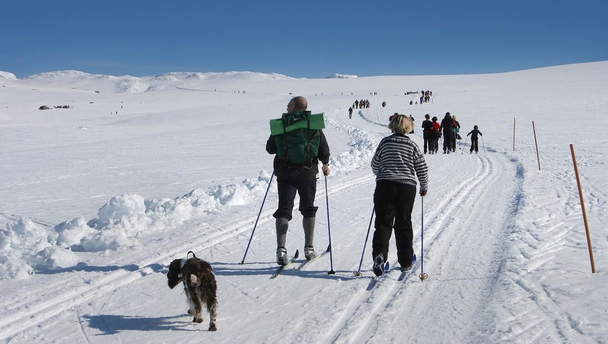 I fjor var det supert vær i vinterferien på Hovden i Setesdal. Slik ser det ikke ut til å bli i år.