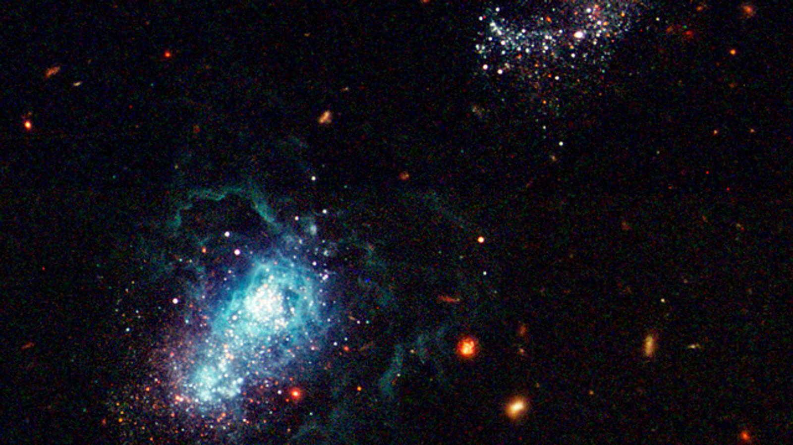 Kanskje den yngste galaksen vår, I Zwicky 18.