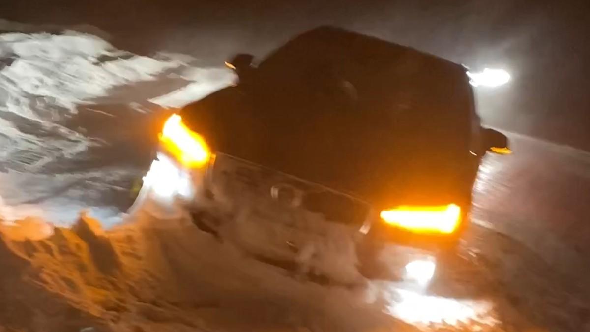 Bil fast i Nordkapp
