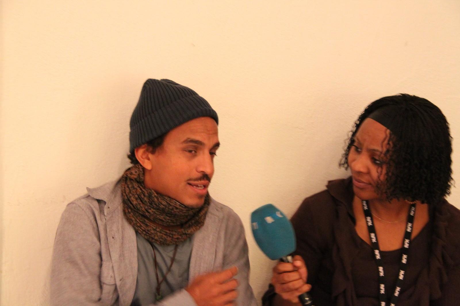 Timbuktu blir intervjuet av vår kenyanske reporter Patience Nyange under Melafestivalen.