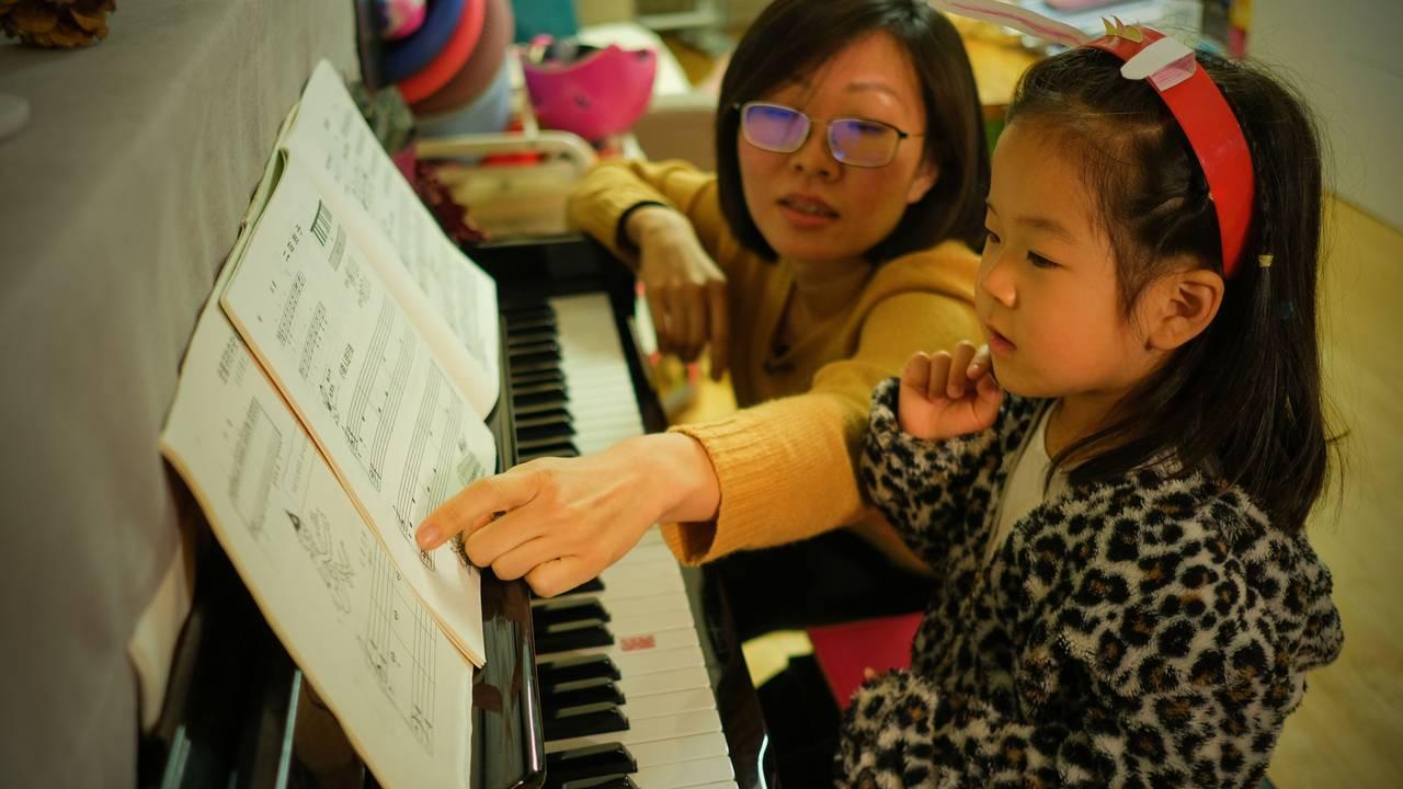 Pianotimer med mamma