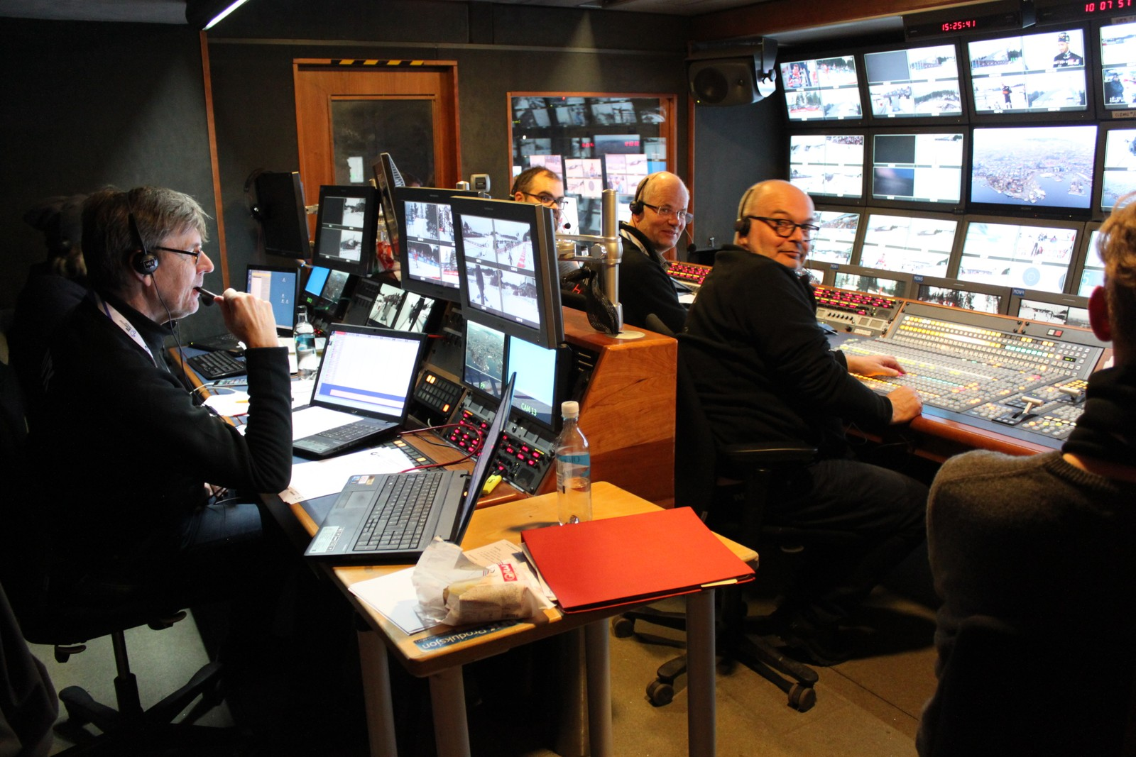 Inside the NRK Host Broadcaster production unit.