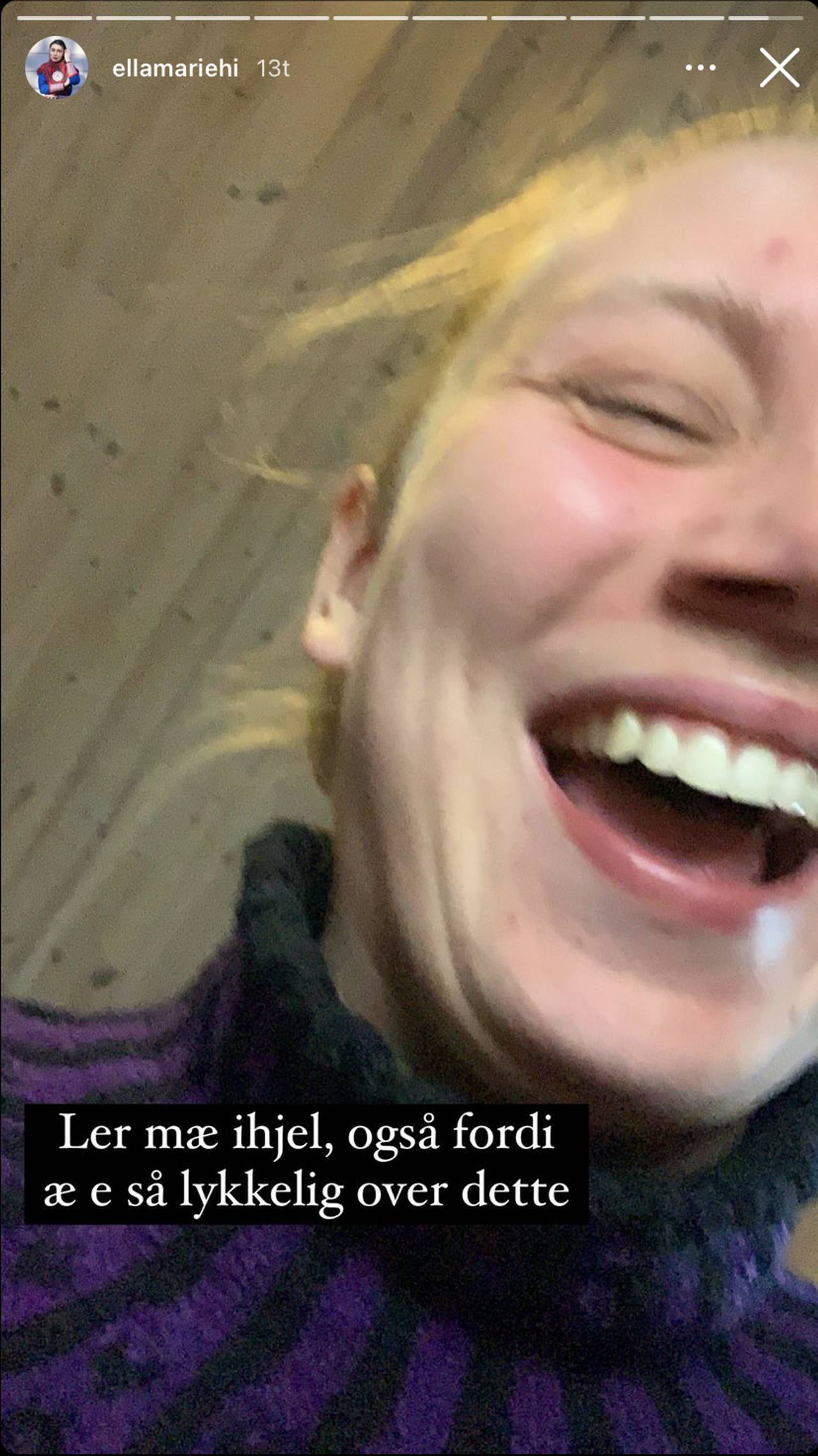 Ella Marie Hætta Isaksens instagram-story 4