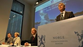 Jens Stoltenberg legger frem klimamelding