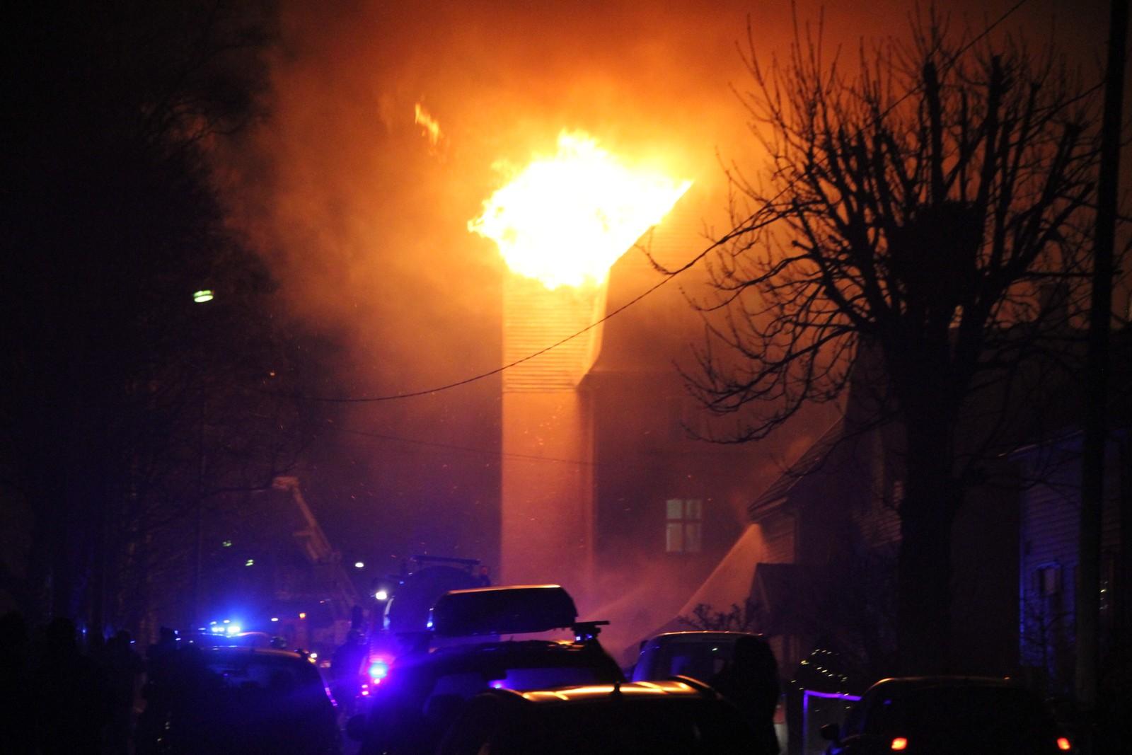 Brann på asylmottak på Rjukan natt til nyttårsaften  2016.