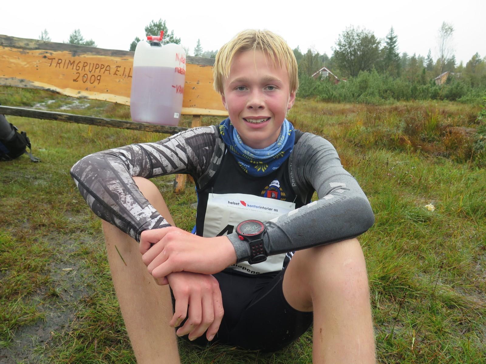 Håkon Stavik fornøgd vinnar