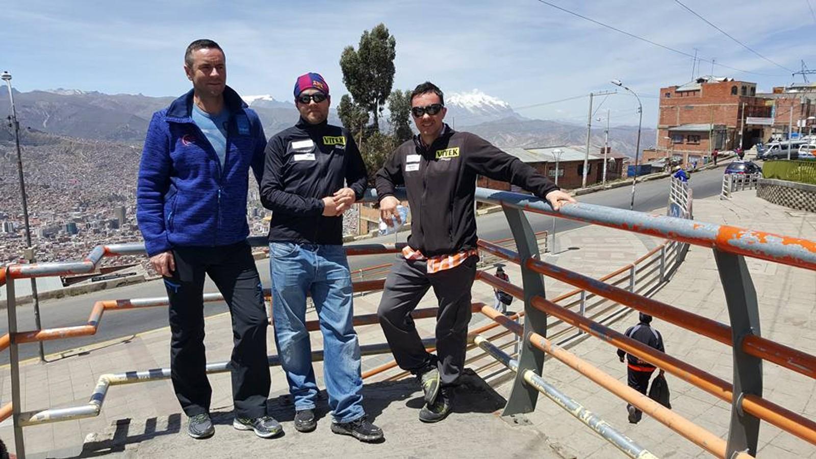Tre vestlendinger i La Paz.