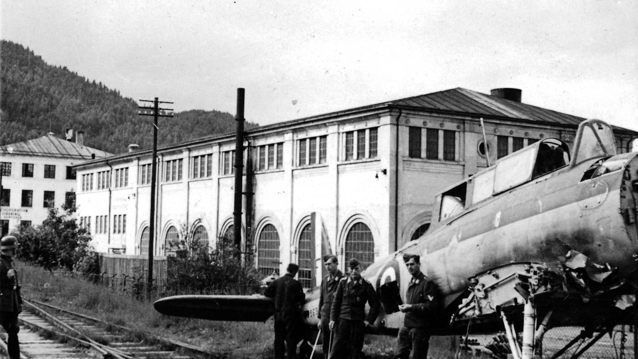 Blackburn skua, britisk fly som ble satt ned på Byneset i Trondheim