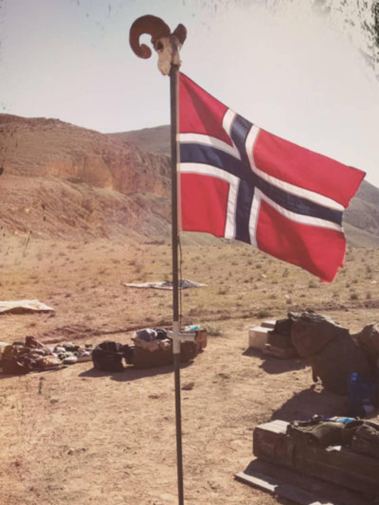 Norsk flagg i Syria