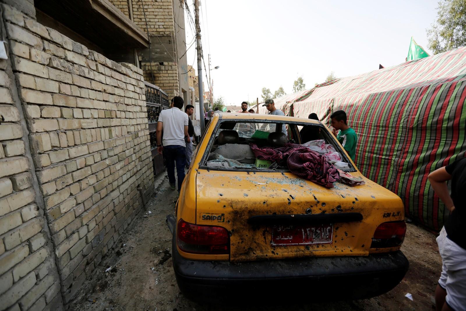 Bomba som gjekk av i Bagdad laurdag fekk også materielle skader.