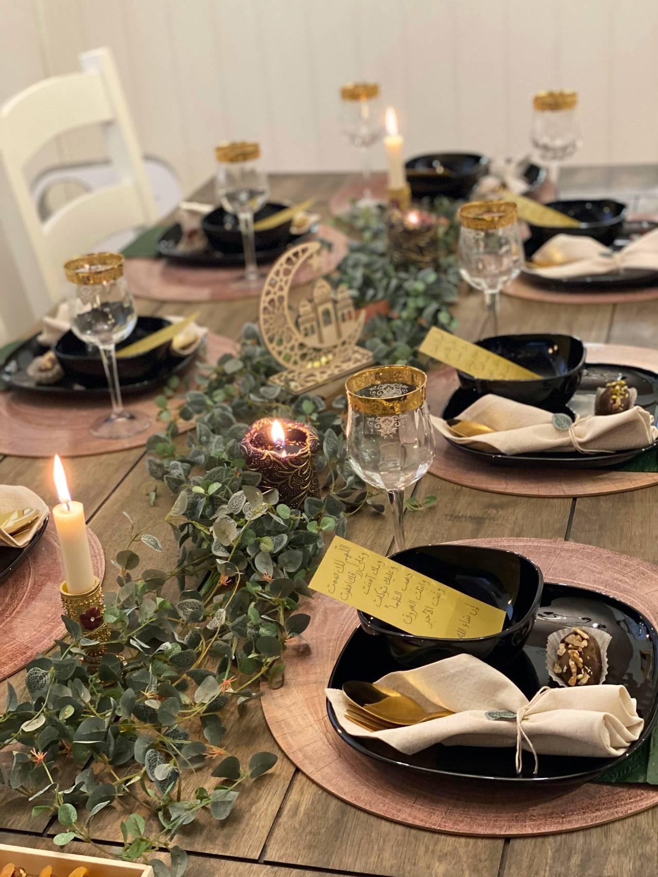 Middagsbord under iftar