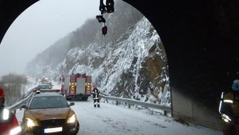 Brunostbrann i Brattlitunnelen i Tysfjord