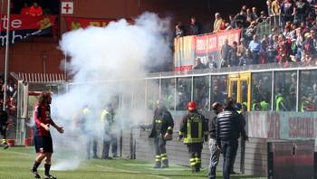 Fotballbråk i Genova