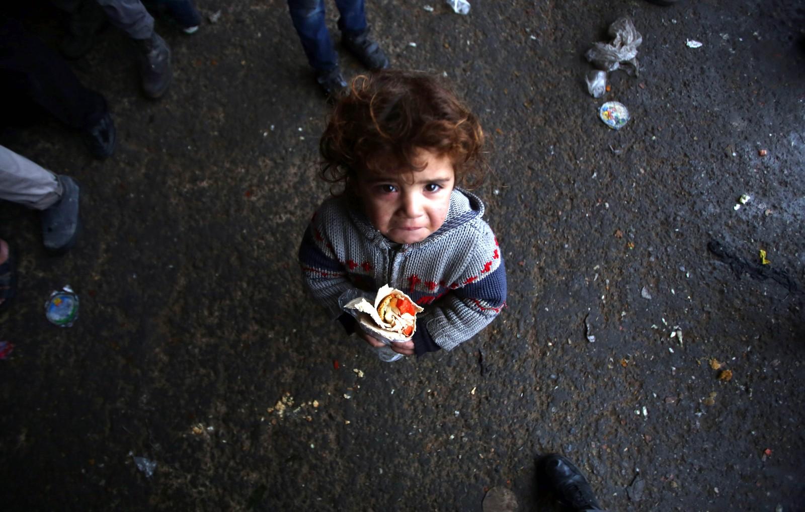Et syrisk barn i Jibrin, øst for Aleppo.