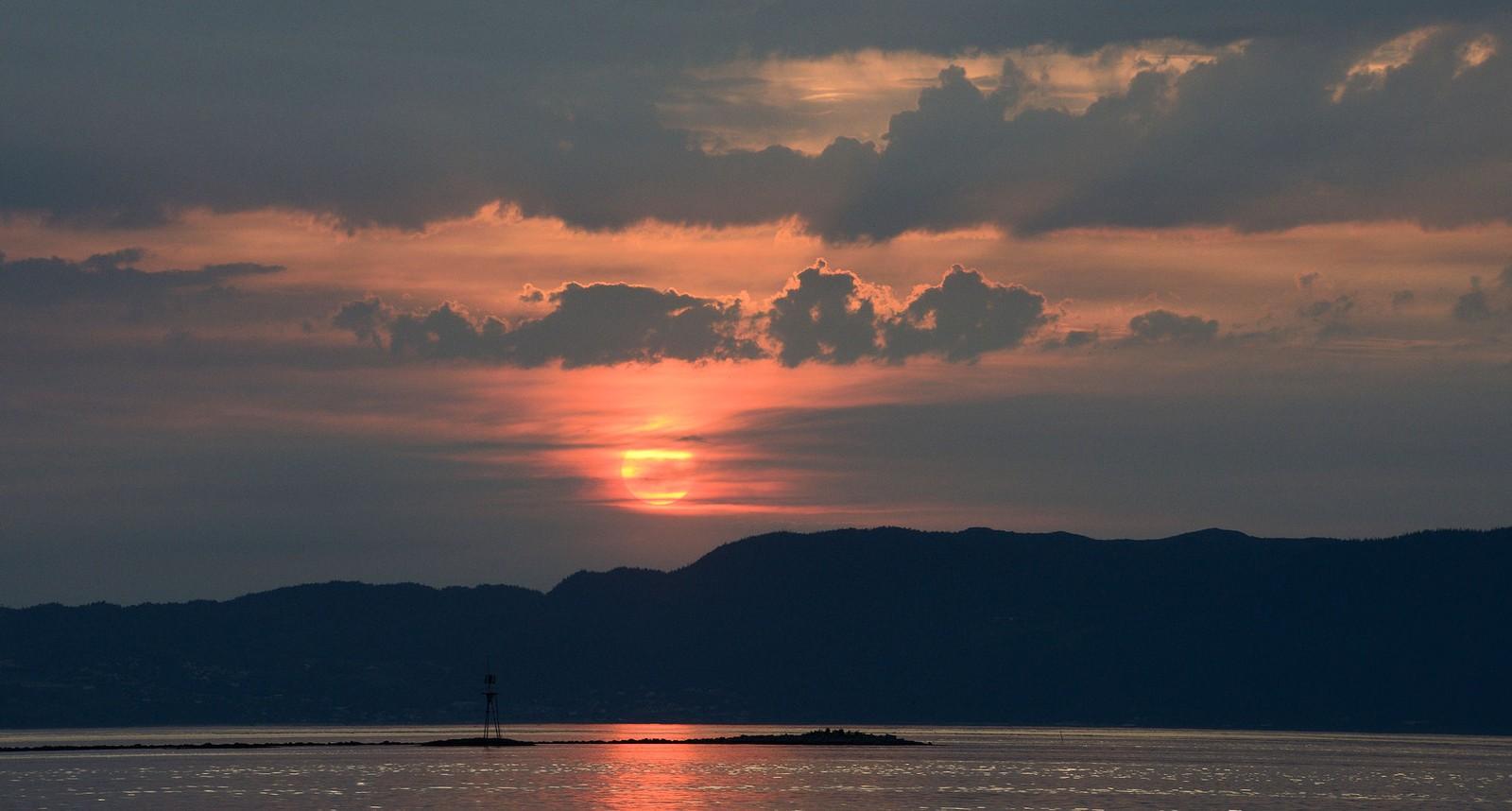 Solnedgang over Trondheimsfjorden