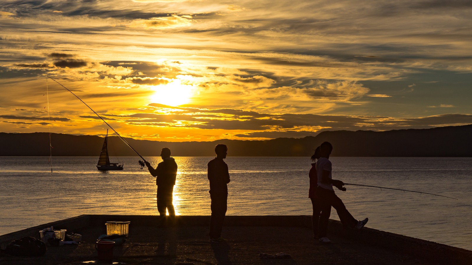 Solnedgang fra Ladekaia