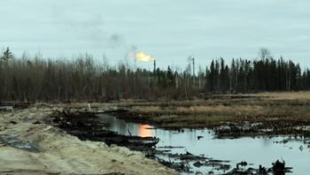 Oljesøl i Sibir