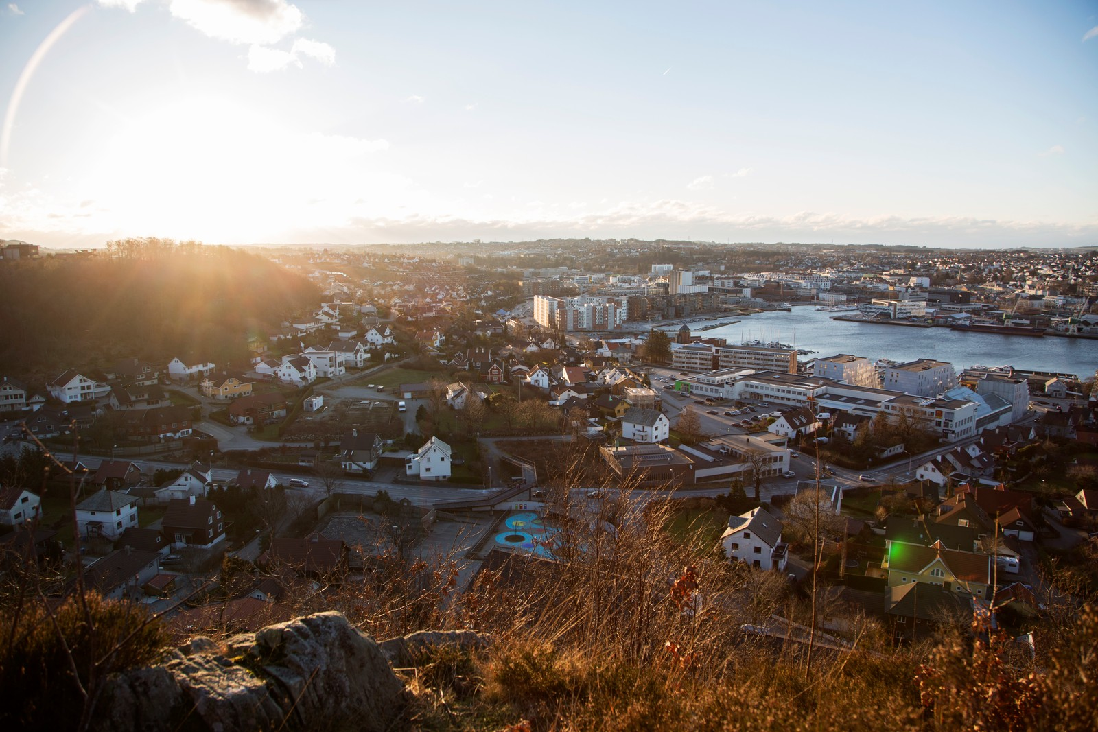 Fra Øvre Hana hadde turgåere flott utsikt over Sandnes