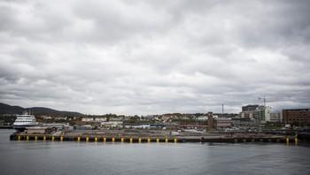 Den nye hurtigrutekaia i Bodø er fortsatt ikke ferdig