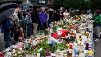 sorg etter terrorangrepene, bergen søndag
