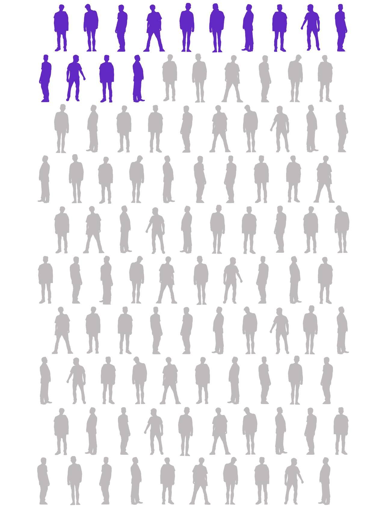 14 silhuetter av menn