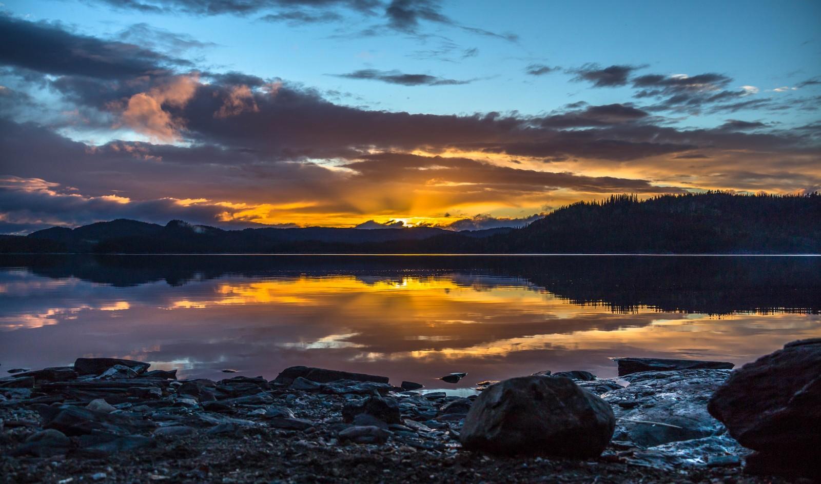 Solnedgangsstemning fra Stor-Drakstsjøen