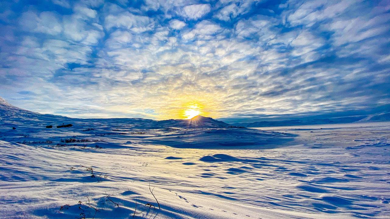 Langrennstur langs Tyin i Jotunheimen