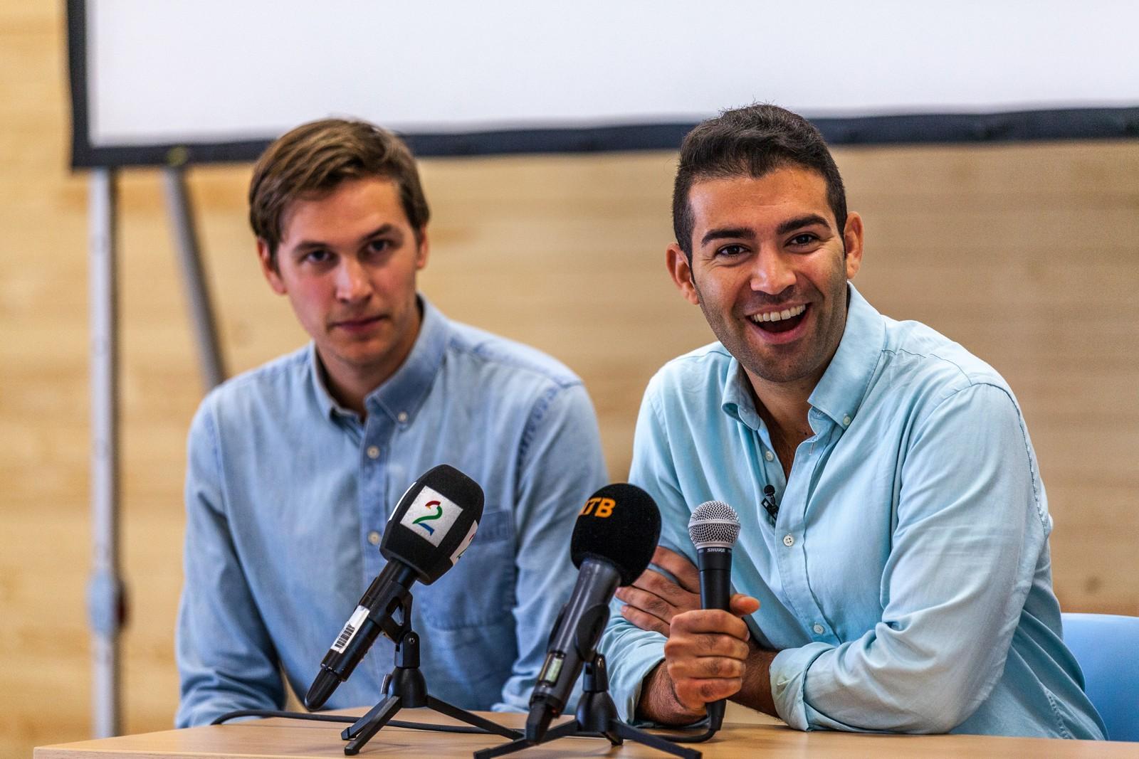 Jørgen Watne Frydnes og Mani Hussaini gleder seg til å ta Utøya i bruk igjen.