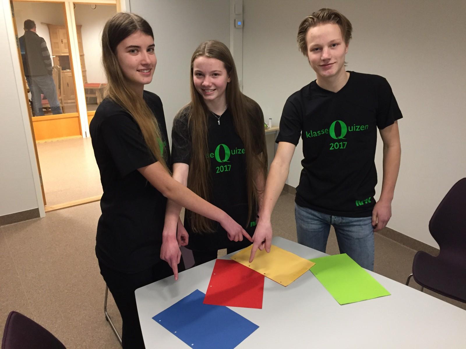 Anita Thorvaldsen, Gina Ingeborg Bråthen og Erik Simengård fra Øyer ungdomsskole fikk åtte rette.