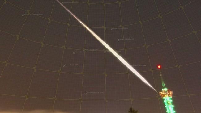 Mulig meteor sett over Trondheim