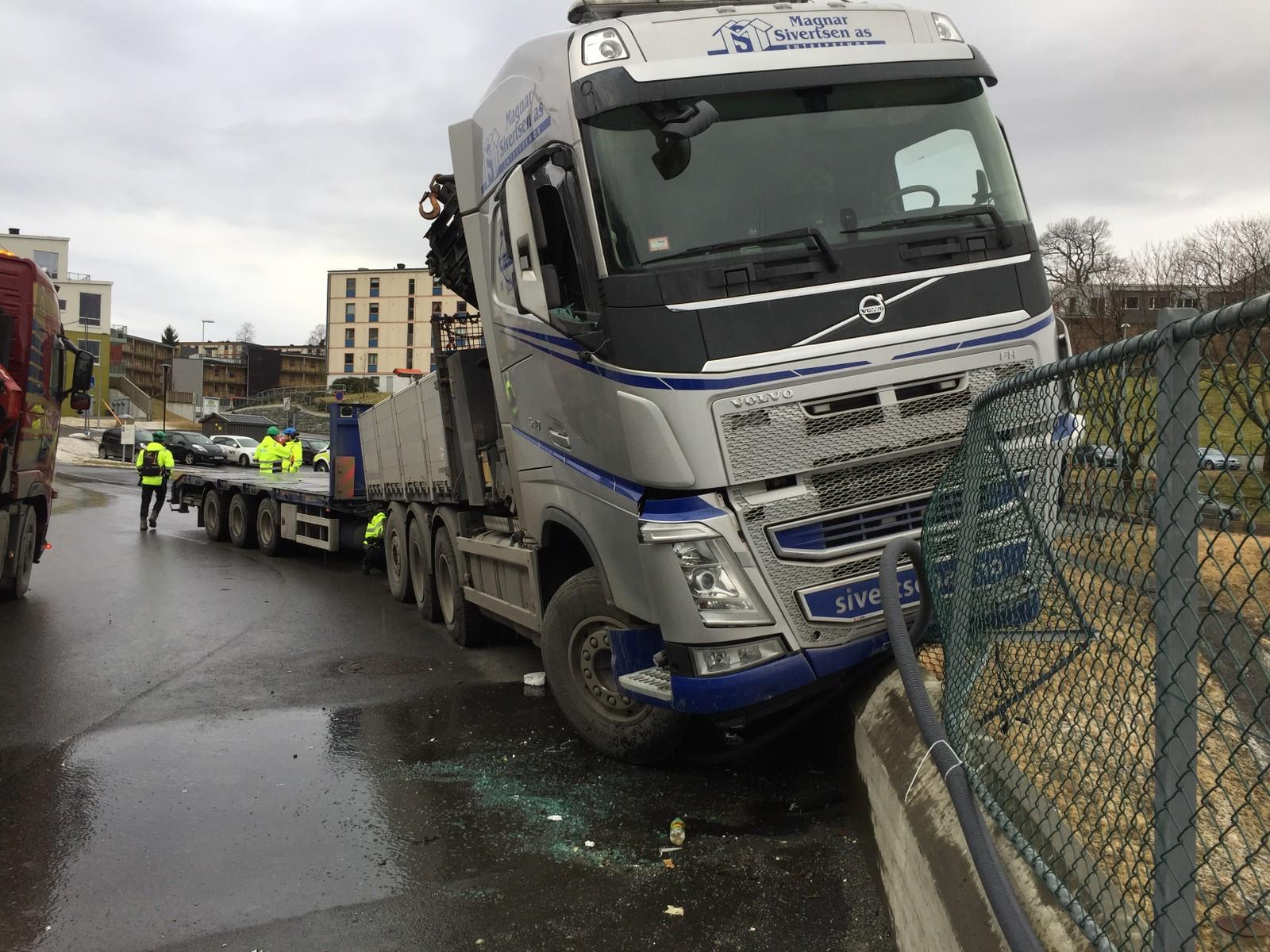 Nesten-ulykke ved Fysakhallen på Landås i Bergen.