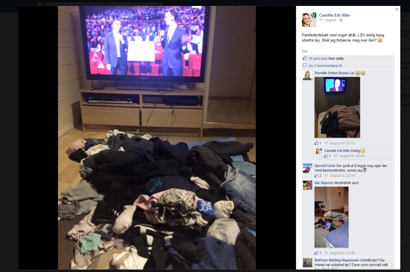 Akershuskommunen Skis ordførerkandidat fra Vestre, Camilla Edi Hille, deler humor og videoer av seg selv på Facebook og får mye respons på det.