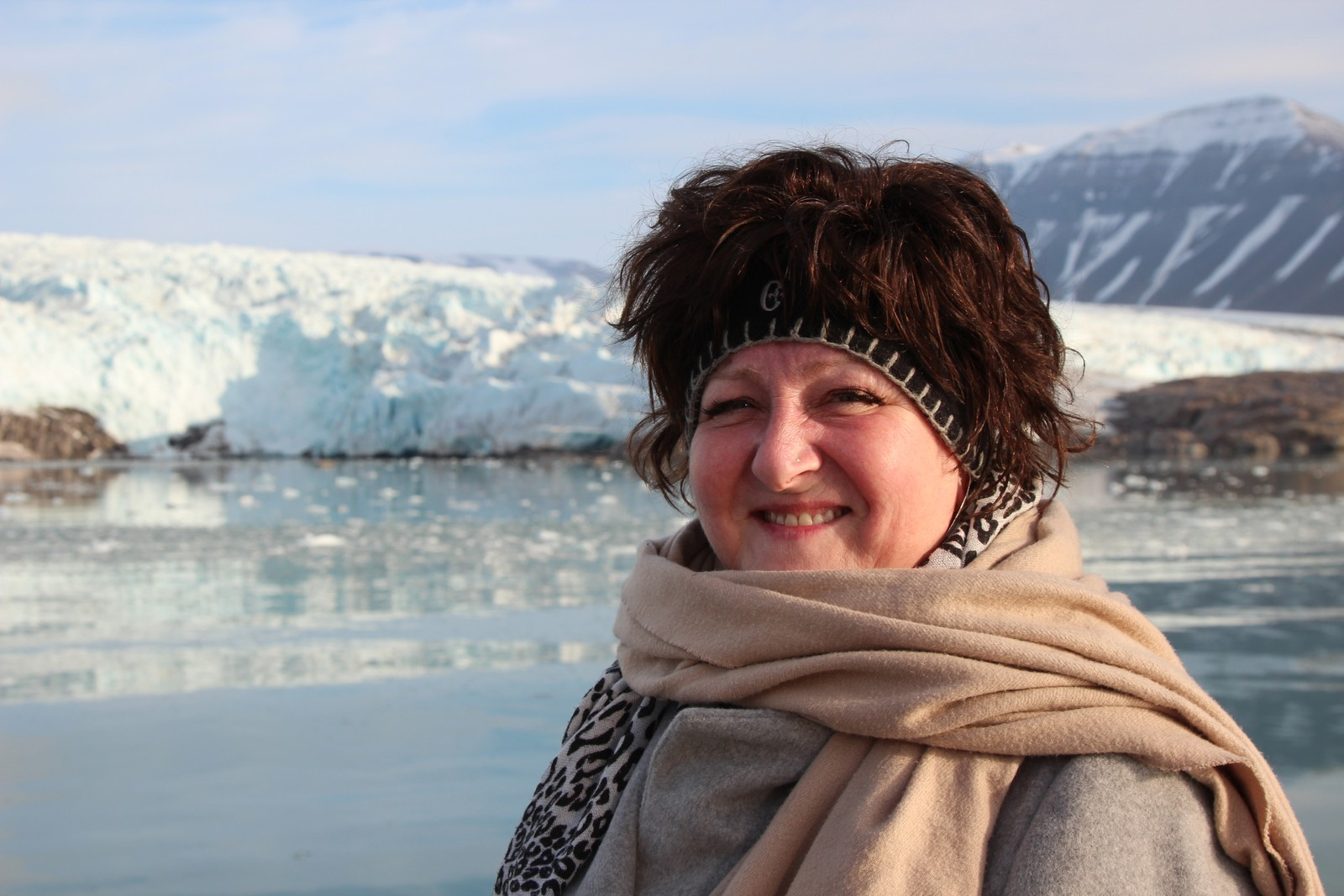 Anne B. Ragde på litteratur-cruise med NRK og SVT på Svalbard.