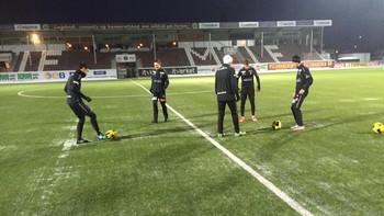 Lokale unggutter på Mjøndalen-trening