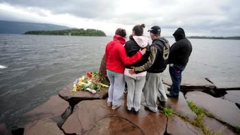 sorg etter terrorangrep, utvika camping søndag