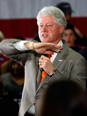 Bill Clinton driver valgkamp for kona i Greenville, South Carolina.