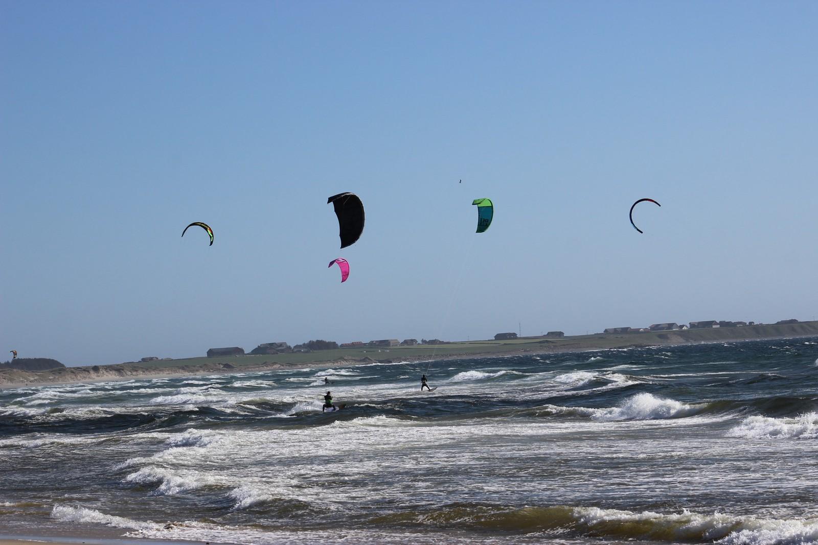 Kiting på Borestranda, Klepp.