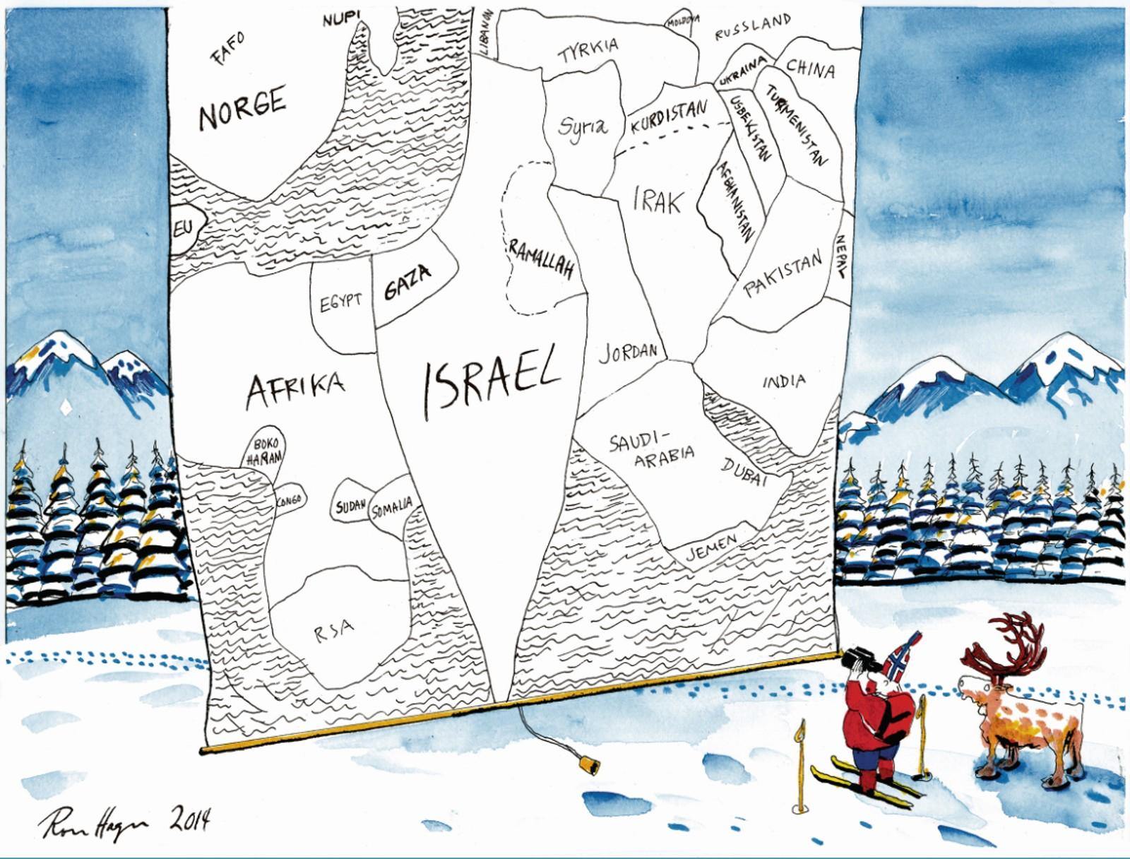 «Yasir Arafat og palestinernes situasjon har fått Norge til å grave dypt i lommene for å hjelpe. Konflikten mellom israelere og palestinere har også blitt en del av fortellingen om Norge.»