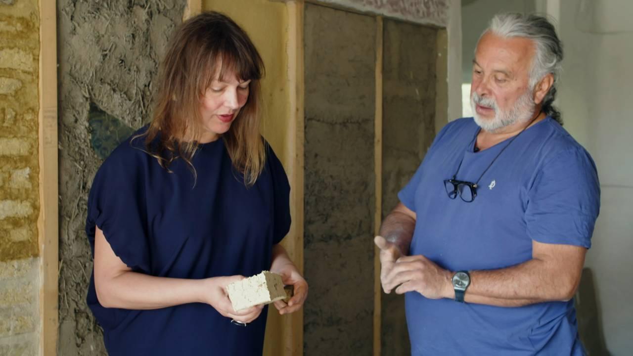 Julio Perez i Gaia og Charlotte Thiis-Evensen i Arkitektens hjem