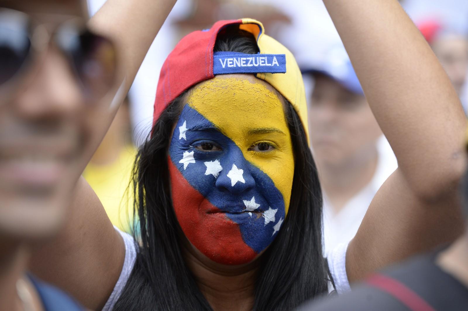 Aktivister marsjerte i gatene i Caracas 1. september.
