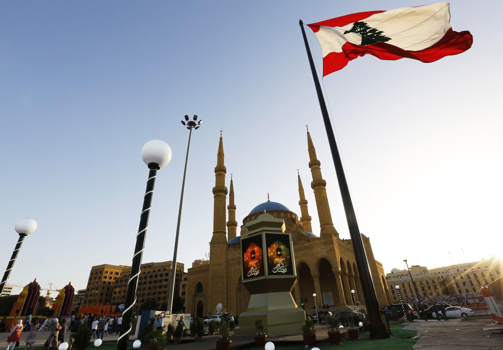 Lanterne utenfor Mohammad al-Amin-moskeen i Beirut i Libanon