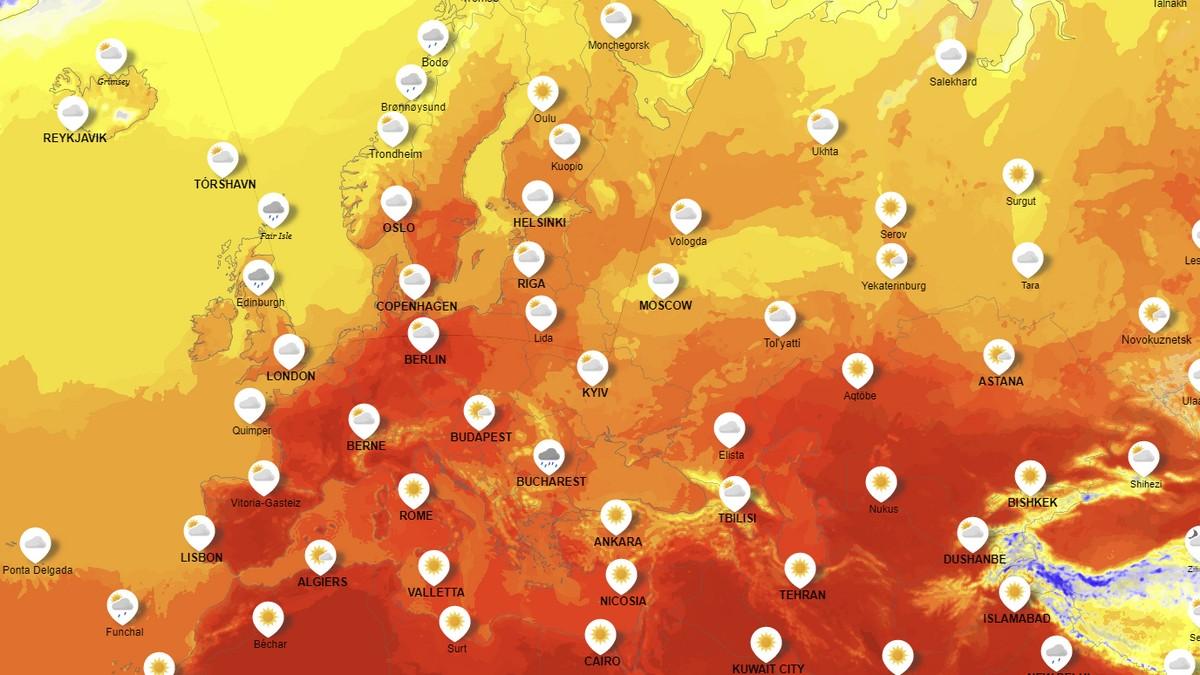 Temperaturene vil begynne å stige i Spania i løpet av helgen, før den sprer seg til Frankrike og Tyskland i starten av neste uke.