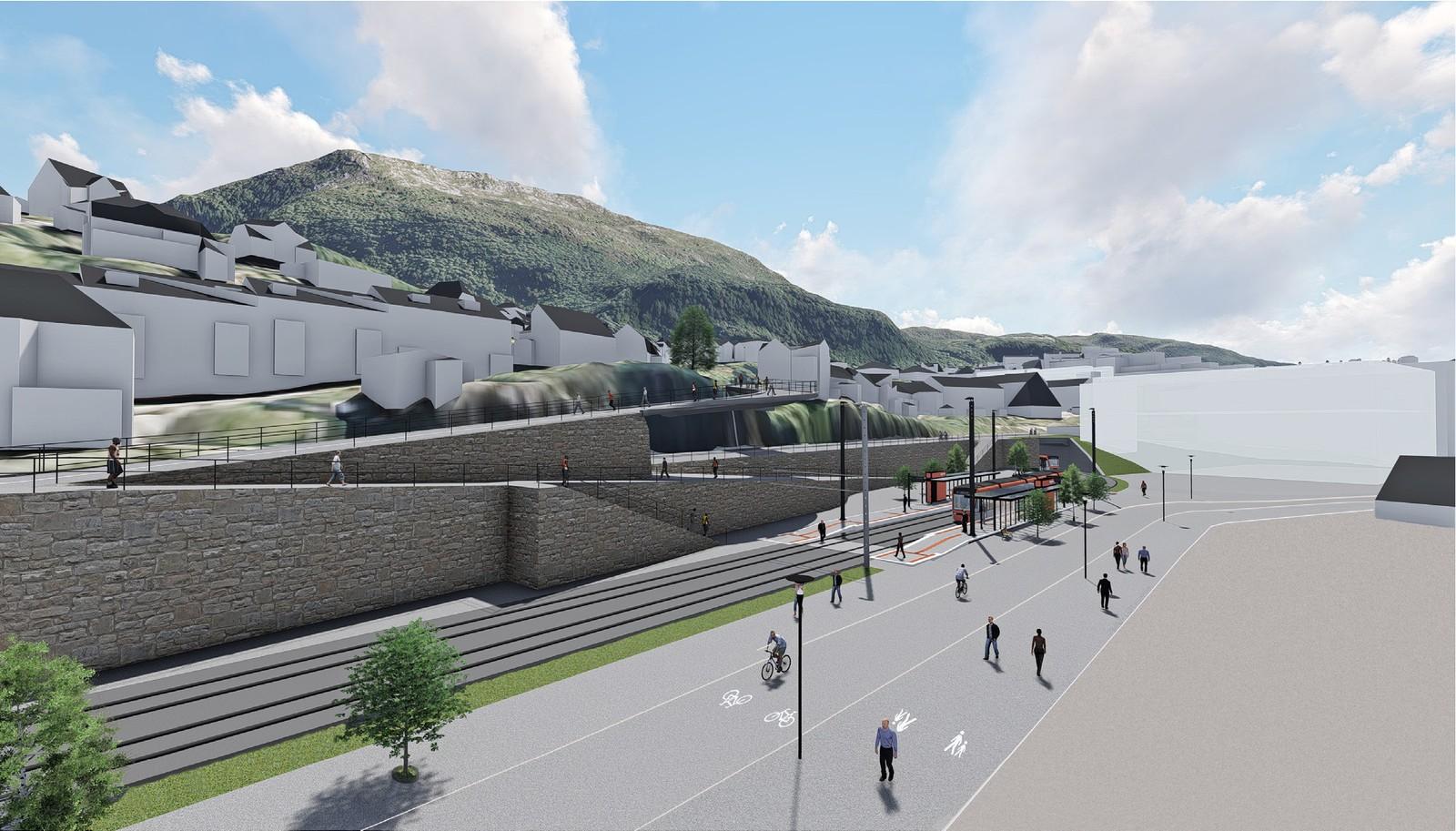 Møllendal bybanestopp.