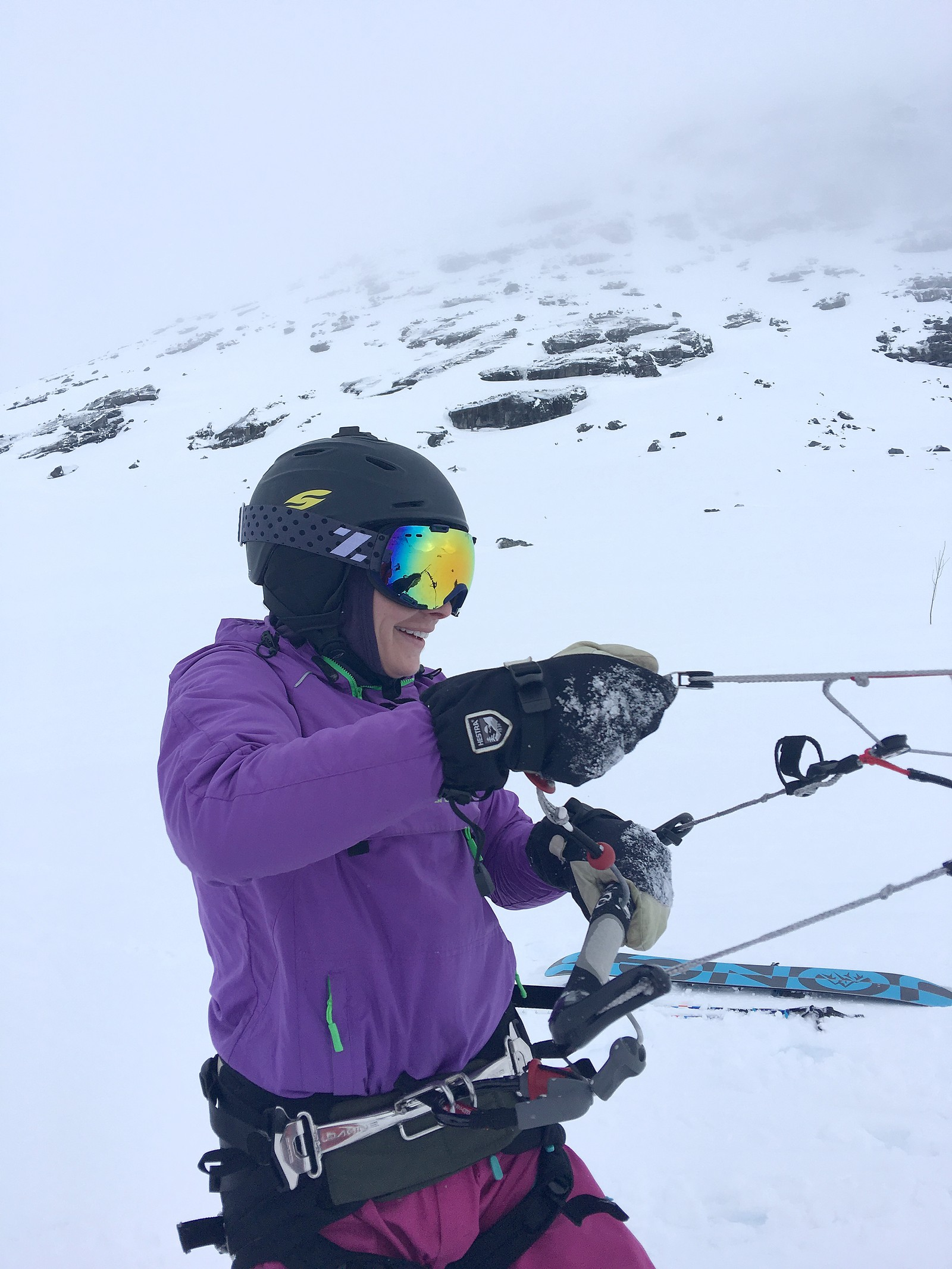 KITING: Ingvill Ydse gjer seg klar til å kite
