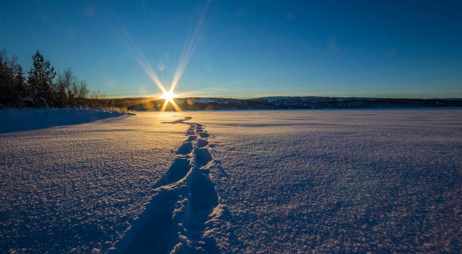 Solnedgang over Veressjøen