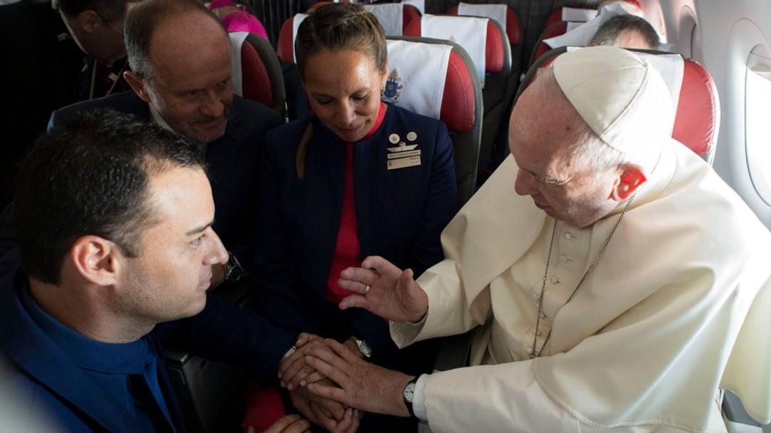 Pave Frans viet par Chile fly