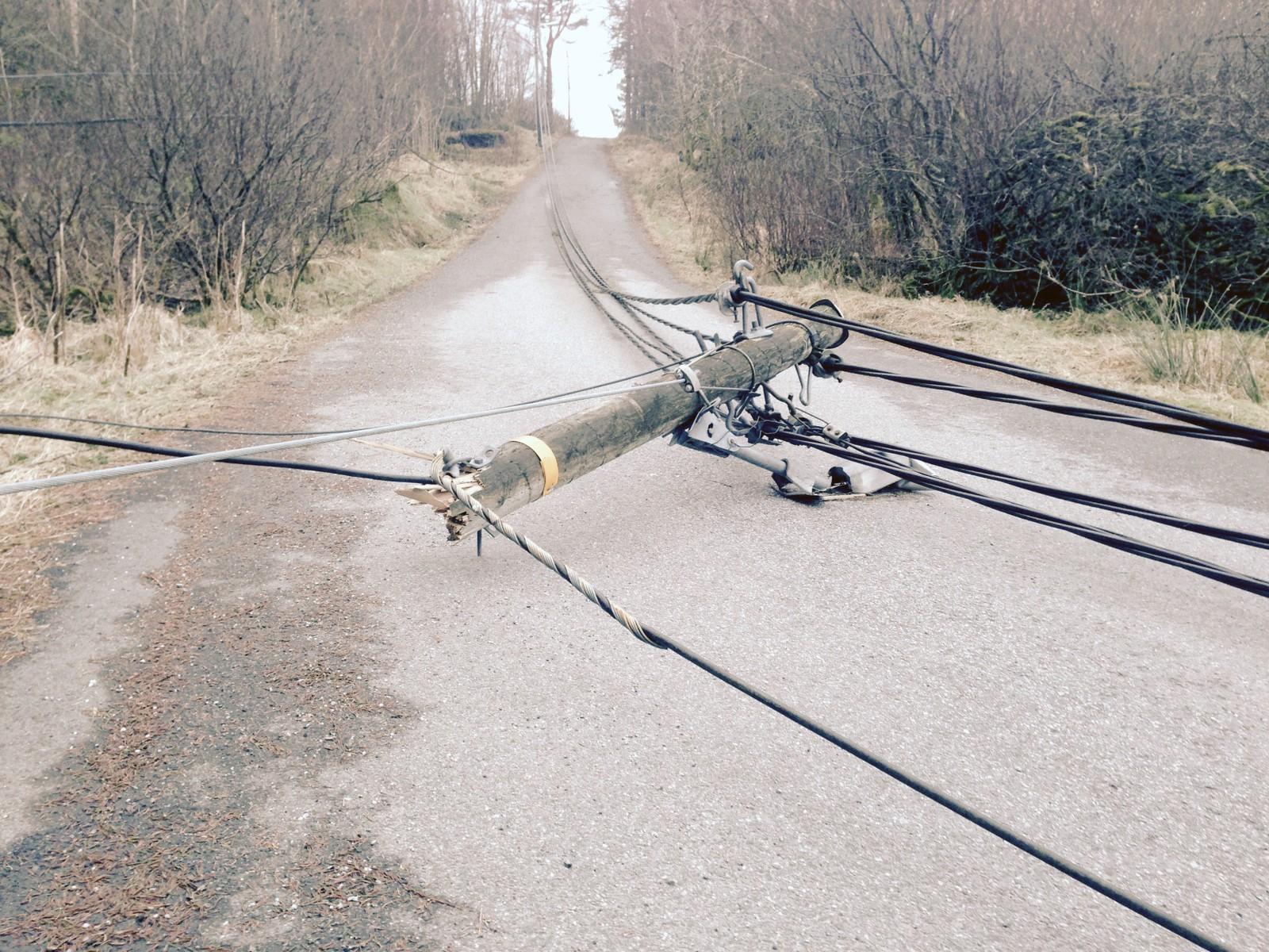 En av mange ufremkommelige sideveier. Dette er fra Sletteneset, ikke langt fra Bergen Lufthavn.