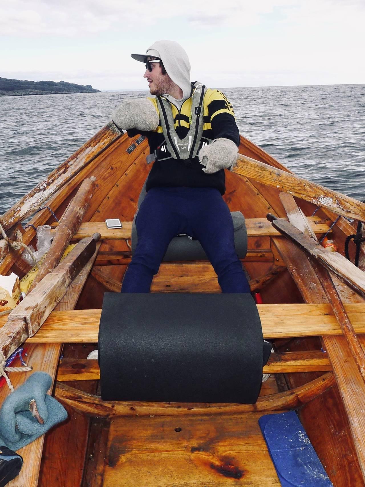 Bjørn Tomren då han rodde Noreg på langs.