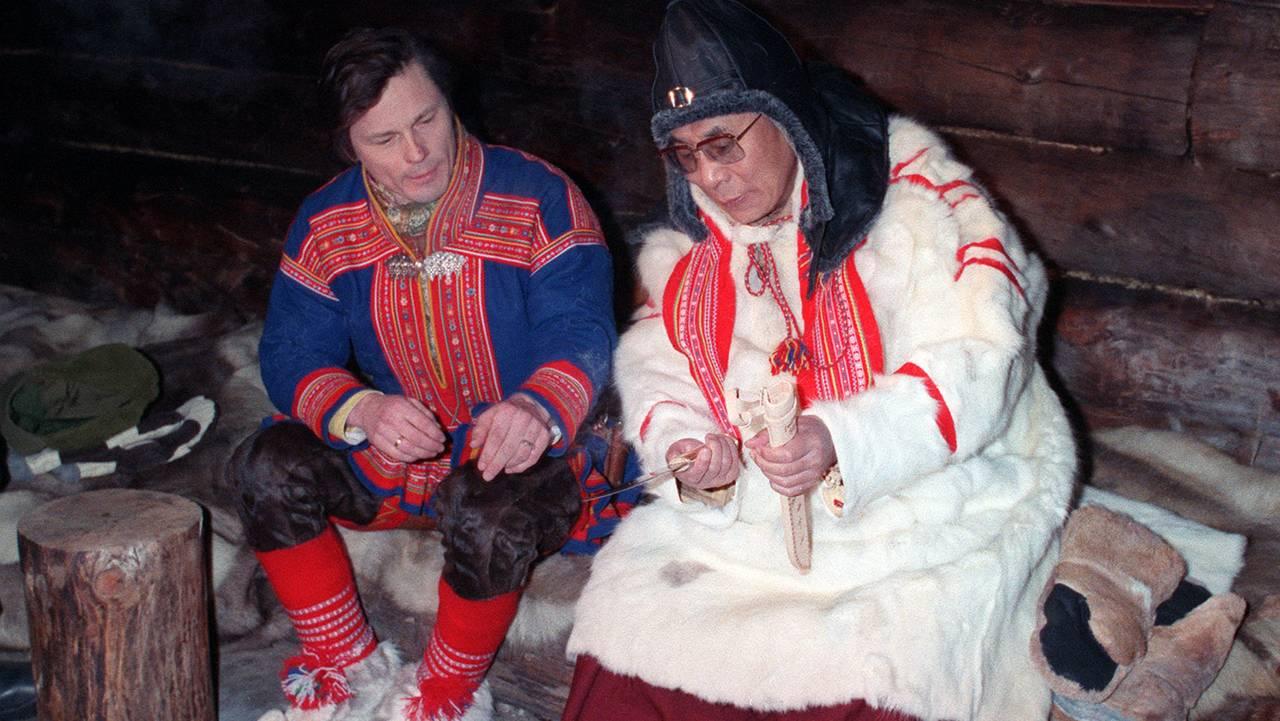 Ole Henrik Magga og Dalai Lama.